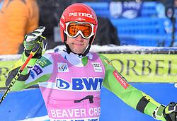 02.12.2018, Beaver Creek, USA, FIS Weltcup Ski Alpin, Beaver Creek, Riesenslalom, Herren, 1. Lauf, im Bild Zan Kranjec (SLO) // Zan Kranjec of Slovenia reacts after his 1st run of men's Giant Slalom of FIS ski alpine world cup in Beaver Creek, United States on 2018/12/02.12.2018. EXPA Pictures © 2018, PhotoCredit: EXPA/ Erich Spiess