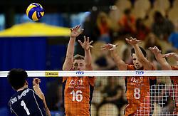 01-06-2014 NED: WLV Nederland - Zuid Korea, Eindhoven<br /> Robin Overbeeke, Bas van Bemmelen