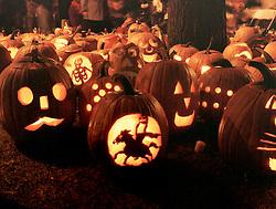 Jack O' Lantern pumpkins at Keene Pumpkin Festival, Keene, NH