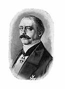 Otto von Bismarck (1815-98) German (Prussian) statesman. Bismarck in 1858 as Envoy at the German Diet. Engraving