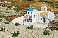 Grece, les Cyclades, Iles Egéennes,  Ile de Santorin (Thira), chapelle // Greece, Cyclades, Santorini island,  chapel