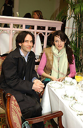 PIERS JACKSON former husband of Jade jagger and POPPY FRASER at a fashion show of Sybil Stanislaus Summer 2005 collection with jewellery by Philippa Holland held at The Lanesborough Hotel, Hyde Park Corner, London on 13th April 2005.<br /><br />NON EXCLUSIVE - WORLD RIGHTS