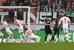 21.03.2015, RheinEnergieStadion, Köln, GER, 1. FBL, 1. FC Köln vs SV Werder Bremen, 26. Runde, im Bild David Selke (SV Werder Bremen #27) mit dem Fuehrungs Tor zum 1:0 // during the German Bundesliga 26th round match between 1. FC Cologne and SV Werder Bremen at the RheinEnergieStadion in Köln, Germany on 2015/03/21. EXPA Pictures © 2015, PhotoCredit: EXPA/ Eibner-Pressefoto/ Schüler<br /> <br /> *****ATTENTION - OUT of GER*****