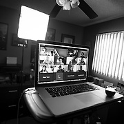 Life inside a Coronavirus locked down means having to teach my studio lighting class at California State University, Northridge from my 120 square foot home office.