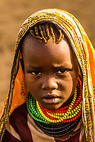 Young Nyangatom tribe girl, Omo Valley, Ethiopia.
