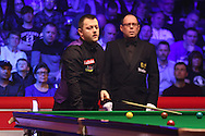 Matk Allen during the Ladbrokes Players Snooker Championship at Event City, Manchester, United Kingdom on 27 March 2016. Photo by Pete Burns.