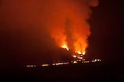 Eruption of Fernandina Volcano, Galapagos Islands National Park. 2009.
