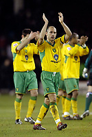 Photo: Jed Wee.<br />Sheffield United v Norwich City. Coca Cola Championship.<br />26/12/2005.<br />Norwich captain Craig Fleming applauds the fans at the end of the game.