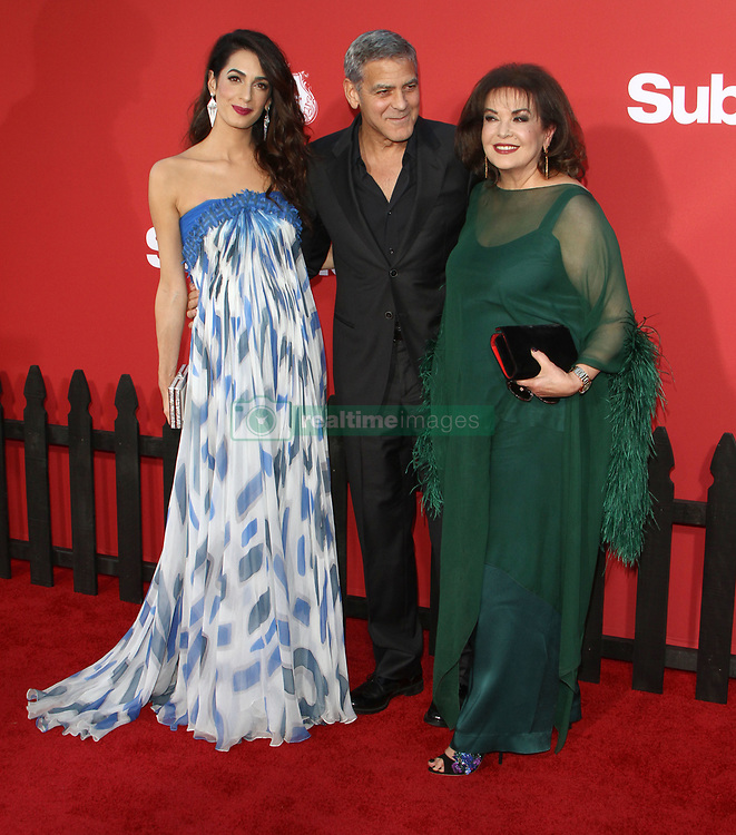 Suburbicon Premiere at The Regency Village Theater in Westwood, California on 10/22/17. 22 Oct 2017 Pictured: George Clooney, Amal Clooney. Photo credit: River / MEGA TheMegaAgency.com +1 888 505 6342