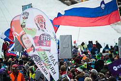 KRANJEC Zan fans during the Audi FIS Alpine Ski World Cup Men's Slalom 58th Vitranc Cup 2019 on March 10, 2019 in Podkoren, Kranjska Gora, Slovenia. Photo by Peter Podobnik / Sportida