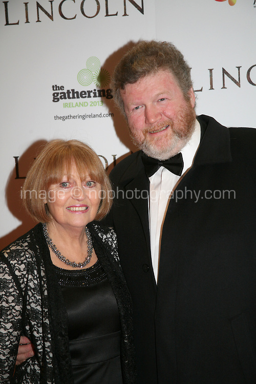 James Reilly, Minister for Health and Dorothy O'Reilly at the Lincoln film premiere Savoy Cinema in Dublin, Ireland. Sunday 20th January 2013.
