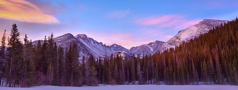 Sunrise at Bear Lake, Rocky Mountain National Park