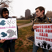 Protest in Kansas City, Missouri of fraudulent Russian elections - protest held on February 4, 2012