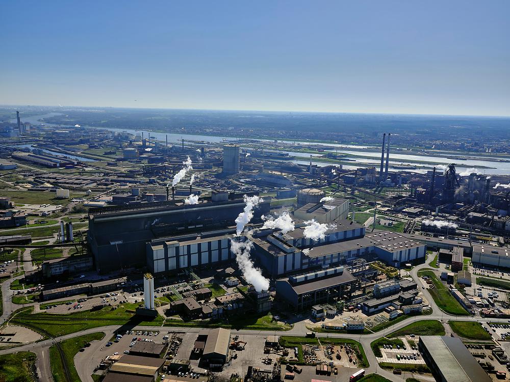 Nederland, Noord-Holland, IJmuiden, 23-03-2020; Velsen-Noord, Tata Steel. Oxystaalfabriek.<br /> Tata Steel industrial site, steel works.<br /> luchtfoto (toeslag op standaard tarieven);<br /> aerial photo (additional fee required)<br /> copyright © 2020 foto/photo Siebe Swart