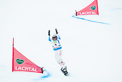 Claudia Riegler of Austria celebrates after the Final of the Ladies' Parallel Giant Slalom at FIS World Championships of Snowboard and Freestyle 2015, on January 23, 2015 at the WM Piste in Lachtal, Austria. Photo by Vid Ponikvar / Sportida