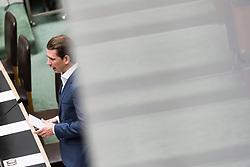 """28.06.2017, Parlament, Wien, AUT, Parlament, Nationalratssitzung, Sitzung des Nationalrates mit einer aktuellen Stunde der ÖVP zum Thema """"Jubiläum 25 Jahre Streitbeilegung Südtirol"""", im Bild Außenminister und designierter ÖVP-Chef Sebastian Kurz // Austrian Foreign Minister Sebastian Kurz during meeting of the National Council of austria due to the topic 25 years anniversary of dispute resolution with South Tyrol at austrian parliament in Vienna, Austria on 2017/06/28, EXPA Pictures © 2017, PhotoCredit: EXPA/ Michael Gruber"""