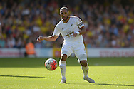 Ashley Williams, the Swansea City captain in action. Barclays Premier League, Watford v Swansea city at Vicarage Road in London on Saturday 12th September 2015.<br /> pic by John Patrick Fletcher, Andrew Orchard sports photography.