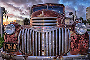 Rusty old Chevrolet truck in Downtown Fort Lauderdale
