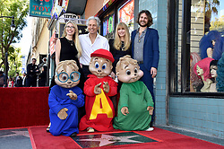 Janice Karman, Ross Bagdasarian, Michael Bagdasarian and Vanessa Bagdasarian attend the Alvin & The Chipmunks celebrate their 60th anniversary with star on the Hollywood Walk of Fame on March 14, 2019 in Los Angeles, CA, USA. Photo by Lionel Hahn/ABACAPRESS.COM