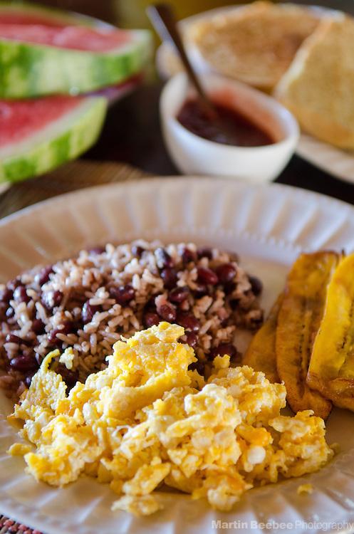 A typical Costa Rican breakfast, Costa Rica