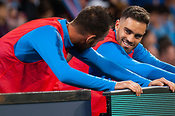 November 2, 2018 - Melbourne, VIC, U.S. - MELBOURNE, VIC - NOVEMBER 02: Melbourne City forward Bruno Fornaroli (23) warming up with fellow teammate Melbourne City goalkeeper Mark Birighitti (1) at the Hyundai A-League Round 3 soccer match between Melbourne City FC and Sydney FC on November 02, 2018, at AAMI Park in Melbourne. (Photo by Speed Media/Icon Sportswire) (Credit Image: © Speed Media/Icon SMI via ZUMA Press)