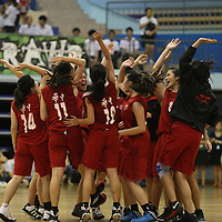 Jurong East Sports Hall, Wednesday, May 22, 2013 — Hwa Chong Institution (HCI) defeated arch-rivals Raffles Institution (RI) 45–25 to be crowned the National A Division Basketball champions. They wrenched back their championship title from RI, who broke their four-year winning streak (2008 to 2011) last year. This is the eight time in the last 10 years that HCI have clinched the National A Division Girls' Basketball Championship.<br /> <br /> Story: http://www.redsports.sg/2013/05/22/national-a-div-bball-girls-hwa-chong-institution-raffles-institution/