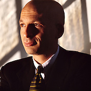 Portrait of Seth Godin.  Photographed in his office in Irvington, NY by Brian Smale, for Fast Company Magazine.