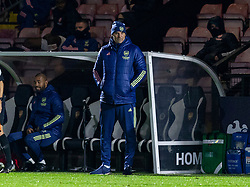 LONDON, ENGLAND - Friday, October 30, 2020: Arsenal's coach Steve Bould during the Premier League 2 Division 1 match between Arsenal FC Under-23's and Liverpool FC Under-23's at Meadow Park. Liverpool won 1-0. (Pic by David Rawcliffe/Propaganda)