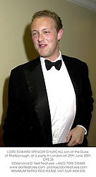 LORD EDWARD SPENCER-CHURCHILL son of the Duke of Marlborough, at a party in London on 25th June 2001.OPS 26