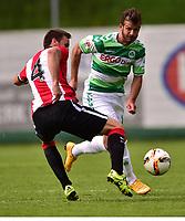 BILDET INNGÅR IKKE I NOEN FASTAVTALER OG ALL BRUK BLIR FAKTURERT <br /> <br /> Fotball<br /> Tyskland<br /> Foto: imago/Digitalsport<br /> NORWAY ONLY<br /> <br /> 14.07.2015 - Fussball - Saison 2015 2016 - Testspiel / Freundschaftsspiel: SpVgg Greuther Fürth - Athletico Bilbao - / - Gurpegui ( Athletico Bilbao ) Zlatko Tripic (17, SpVgg Greuther Fürth , rechts )