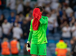 LEEDS, ENGLAND - Sunday, September 12, 2021: Liverpool's goalkeeper Alisson Becker after the FA Premier League match between Leeds United FC and Liverpool FC at Elland Road. Liverpool won 3-0. (Pic by David Rawcliffe/Propaganda)
