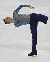 February 17, 2018 - Pyeongchang, KOREA - Adam Rippon of the United States competing in the men's figure skating free skate program during the Pyeongchang 2018 Olympic Winter Games at Gangneung Ice Arena. (Credit Image: © David McIntyre via ZUMA Wire)