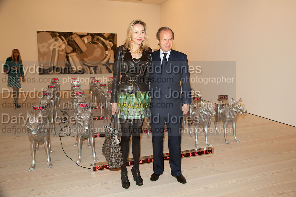 SIMON DE PURY; MICHAELA DE PURY, Phillips de Pury and Company.- BRIC- Exhibition and auction celebrating Brazil, Russia, India and China at the Saatchi Gallery. London.  17 April 2010.