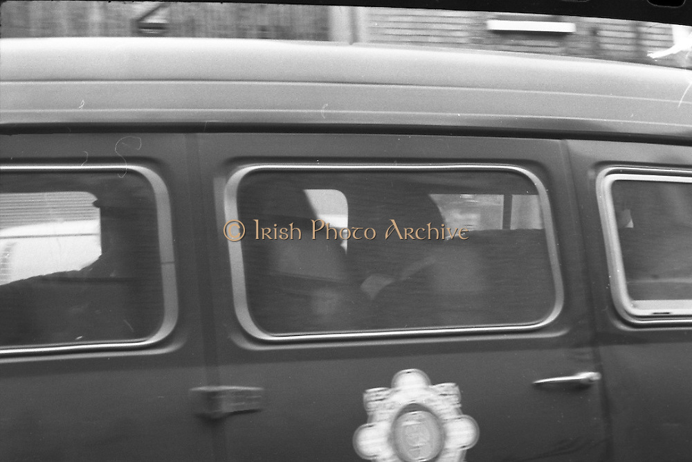 Dr Herrema Kidnap Trial Begins.    K9..1976..23.02.1976..02.23.1976..23rd February 1976..After a period of incarceration, the trial of Eddie Gallagher finally got under way at the Special Criminal Court, Green Street, Dublin. Gallagher was charged with the kidnap of the Dutch Industrialist, Dr Tiede Herrema. The kidnap ended with the release of Dr Herrema after a siege at Monasterevin, Co Kildare.