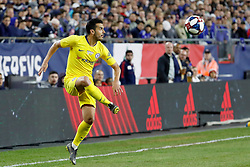 May 15, 2019 - Foxborough, MA, U.S. - FOXBOROUGH, MA - MAY 15: Chelsea FC forward Pedro (11) plays the ball during the Final Whistle on Hate match between the New England Revolution and Chelsea Football Club on May 15, 2019, at Gillette Stadium in Foxborough, Massachusetts. (Photo by Fred Kfoury III/Icon Sportswire) (Credit Image: © Fred Kfoury Iii/Icon SMI via ZUMA Press)