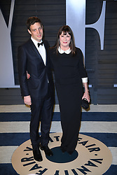 James Jagger (L) and Anjelica Huston attending the 2018 Vanity Fair Oscar Party hosted by Radhika Jones at Wallis Annenberg Center for the Performing Arts on March 4, 2018 in Beverly Hills, Los angeles, CA, USA. Photo by DN Photography/ABACAPRESS.COM