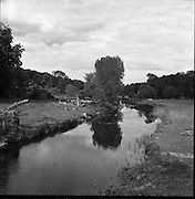 A scene on the King's river, Stoneyford, Co. Kilkenny, 05/07/1953