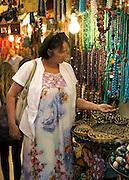 Tourist souvenir stall Jerusalem, Old City, Israel