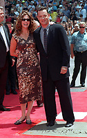 6/23/1998 Tom Hanks' hand/footprint ceremony at the Chinese Theater with wife, Rita Wilson