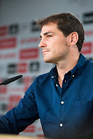 The ex-goalkeeper of Real Madrid, Iker Casillas, confirm the signing with the Porto FC and give a press conference to read an announcement and say goodbye to the fans and press at Santiago Bernabeu Stadium in Madrid, July 12. 2015.<br />  (ALTERPHOTOS/BorjaB.Hojas)