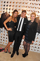 Left to right, CAROLINE VAN LOON, ANDREW ROBERTS and DEBBIE HULL at the launch of the Spencer Hart Flagship store, Brook Steet, London on 13th September 2011.