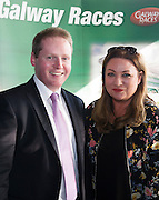 Michael Moloney Galway Race Course Manager and Nora Casey Publishing entrepreneur in the g hotel for the launch of The Galway Races 2016 Summer Festival which runs from the 25th of July to the 31st of July in Galway City. Photo: Andrew Downes :