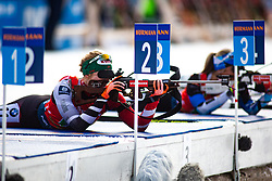 Lisa Theresa Hauser (AUT) during the Single Mixed Relay 6 km / 7,5 kmn at day 3 of IBU Biathlon World Cup 2019/20 Pokljuka, on January 23, 2020 in Rudno polje, Pokljuka, Pokljuka, Slovenia. Photo by Peter Podobnik / Sportida