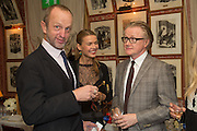 JOHNNIE SHAND KYDD; INDRE SERPYTYTE; DAVID ROBERTS, Charles Finch and  Jay Jopling host dinner in celebration of Frieze Art Fair at the Birley Group's Harry's Bar. London. 10 October 2012.