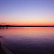 """Long Past Sunset""<br /> <br /> Lake Superior shoreline past sunset!!<br /> <br /> Sunset Images by Rachel Cohen"