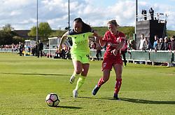 Megan Alexander of Bristol City Women competes with Natasha Harding of Liverpool Ladies - Mandatory by-line: Paul Knight/JMP - 20/05/2017 - FOOTBALL - Stoke Gifford Stadium - Bristol, England - Bristol City Women v Liverpool Ladies - FA Women's Super League Spring Series