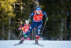 Lukas Hofer (ITA) during Men 12,5 km Pursuit at day 3 of IBU Biathlon World Cup 2015/16 Pokljuka, on December 19, 2015 in Rudno polje, Pokljuka, Slovenia. Photo by Vid Ponikvar / Sportida