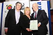 Pictured at the Travel Extra Travel Journalist of the Year Awards was from left to right Eoghan Corry, editor Travel Extra, winner of the Broadcasting Award Mary Fanning, RTE Nationwide for <br /> for a feature on food in Derry and John Spollon of Cassidt Travel <br /> <br /> <br /> FOR IMMEDIATE RELEASE<br /> <br /> Travel Extra Travel Journalist of the Year Awards Announced<br /> <br /> <br /> Dublin, 27th January 2017   Yvonne Gordon was presented with the Travel Extra Journalist of the Year Award at a ceremony held to coincide with the annual Holiday World Show, which takes place at the RDS Simmonscourt, Dublin this weekend.<br /> <br /> Ten other winners, each for different holidaying categories, were announced on Friday night at a dinner in Thomas Prior House, Ballsbridge which was attended by the cream of Irish travel and tourism writers and broadcasters.  The event was sponsored by the Spanish Tourism Office and Costa Dorada.  The award winners were chosen by a distinguished panel of senior Irish journalists. This year saw a huge increase in the number of submissions from previous years, displaying the creativity and continuing innovation of travel and tourism journalism in Ireland. <br /> <br /> The category winners were:<br /> <br /> Newcomer/Young Journalist AwardConor Haugh, Sunday Independent for a feature on Myanmar<br /> Sponsored by Falcon Holidays<br /> <br /> Home Holiday AwardYvonne Gordon, Sunday Times for a feature on Lighthouses, Ballycotton<br /> Sponsored by Fáilte Ireland<br /> <br /> Northern Ireland Award - Jasper Winn, Country Walking Magazine<br /> Sponsored by Tourism Northern Ireland<br /> <br /> Spain AwardIsabel Conway, Sunday World for a feature on Tenerife Walking<br /> Sponsored by Spanish Tourism Office<br /> <br /> Broadcasting AwardMary Fanning, RTE Nationwide for a broadcast feature on Food in Derry<br /> Sponsored by Cassidy Travel<br /> <br /> Skiing AwardCatherine Murphy, Daily Mail for a feature entitled Chalet Girl<br /> 