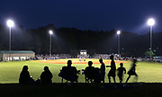 Fans watch the season opening game for the new Charlottesville Tom Sox from a hill over looking the field Tuesday night in Charlottesville, VA. Photo/The Daily Progress/Andrew Shurtleff