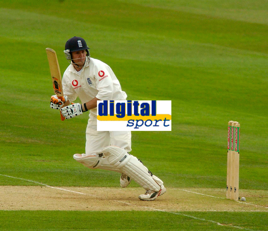 Photo. Glyn Thomas. <br /> England v West Indies. Second Test, nPower Test Series.<br /> Day 2. 30/07/2004.<br /> Geraint Jones flicks the ball away through the leg side on his way to 74.